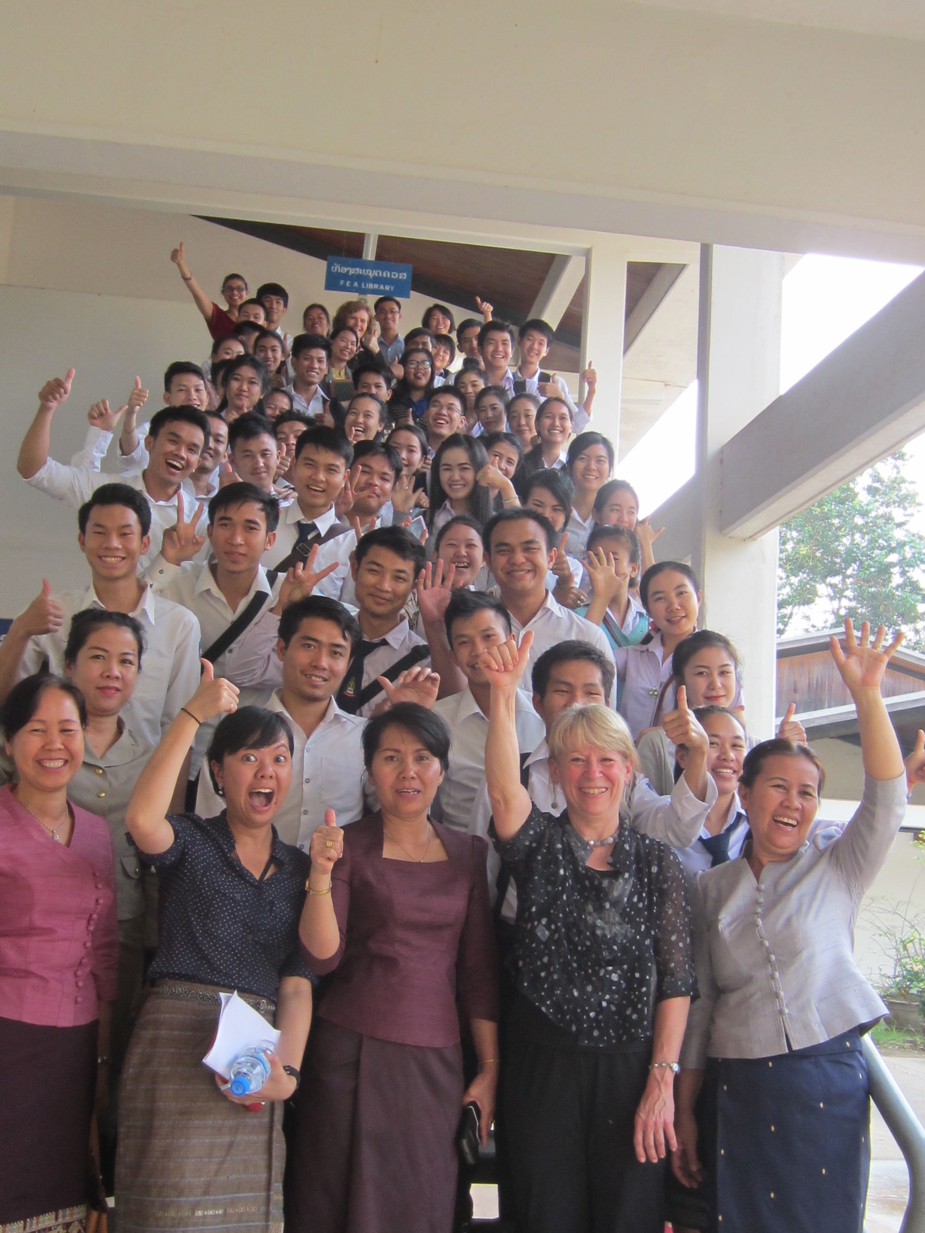 Science and engineering students and faculty from National University
